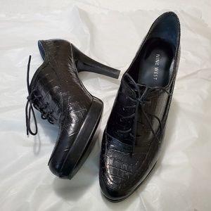 """Nine West Black Oxford 4"""" heels"""